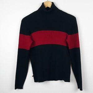 Lauren RL 100% Cotton Striped Turtle Neck Sweater